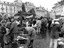November 1989 in Prag (Foto: Archiv von Herrn Růžička, Archiv des Tschechischen Rundfunks)