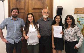 Los estudiantes, los profesores y Josef Opatrný, foto: Centro de Estudios Iberoamericanos