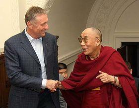 Mirek Topolánek et le dalaï-lama, photo: CTK