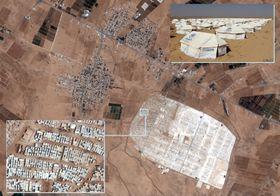 El campo de refugiados en Syria, fuente: SATCEN