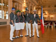 Models present the Czech team's official outfits, photo: CTK