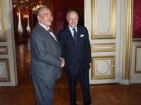 Karel Schwarzenberg avec son homologue Laurent Fabius, photo: MZV
