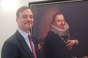 Francesco Kinský dal Borgo and portrait of Wilhelm Kinsky, photo: Martina Schneibergová