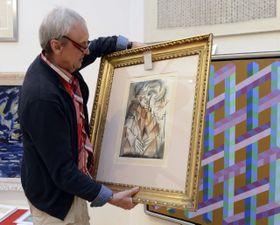 Antonín Procházka - 'Žena s rukama v klíně', photo: CTK