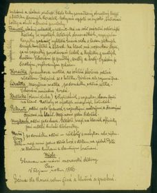 Le manuscrit de la pièce des frères Mrštík, photo: Národní muzeum / e-sbírky, CC BY