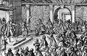 Karl von Liechtenstein und die Verwandten von den 27 zum Tod verurteilten Adeligen