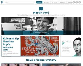 Webové stránky Martina Fryče