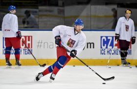 Training session of Czech Republic's international ice hockey squad, photo: CTK