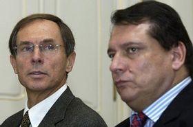 Jan Svejnar y Jirí Paroubek (Foto: CTK)