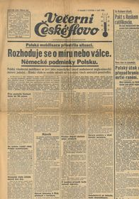 Газета «Вечернее Чешское слово»