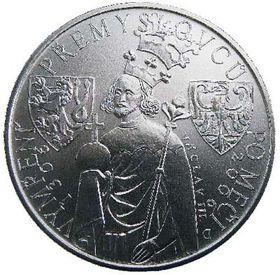 Stříbrná pamětní mince smotivem Václava III., foto: ČTK
