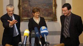 Владимир Шпидла, Мария Соучкова и Давид Рат (Фото: ЧТК)