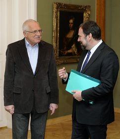 Václav Klaus und Radek John (Foto: ČTK)