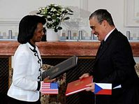 Condoleezza Rice and Karel Schwarzenberg, photo: CTK