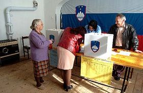 Residents of the village Brestovica pri Komnu vote at a polling station. More than 1.6 million Slovenes vote for mayors and city councils on their fourth local elections since 1991, when Slovenia became an independent state, photo: CTK