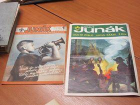 """První poválečné aprvní """"porevoluční"""" číslo časopisu Junák, foto: Martina Bílá"""