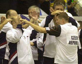 Tenistas checos en Brno, foto: CTK