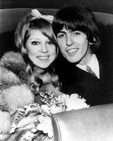 Pattie Boyd and George Harrison, photo: CTK
