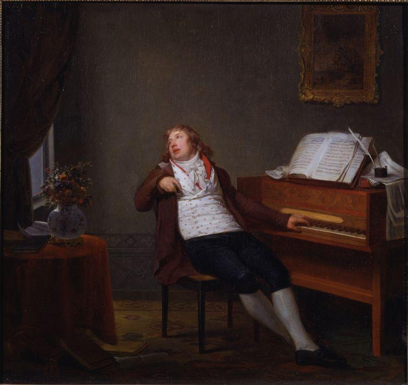 Jan Ladislav Dussek par Henri-Pierre Danloux, 1795, photo: public domain
