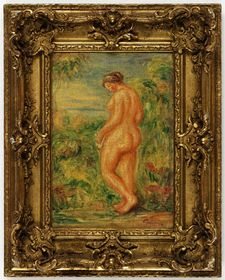 Auguste Renoir 'Nude in the Country' 1920, an 'heirless' painting transferred from the Czech National Gallery to the Jewish Museum