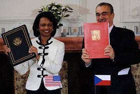 Condolleezza Riceová aKarel Schwarzenberg, foto: ČTK