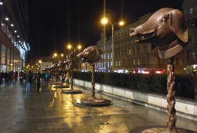 'El Zodíaco' de Ai Weiwei en Praga, foto: Miroslav Krupička