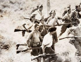 Milicias republicanas durante la batalla de Guadarrama, foto: public domain