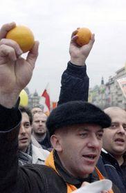 Protestas de la oposición ucraniana en Praga (Foto: CTK)