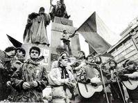 November 1989, Prague - Wenceslas Square