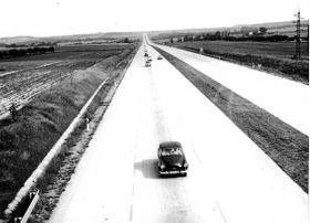La autopista D1 en 1971