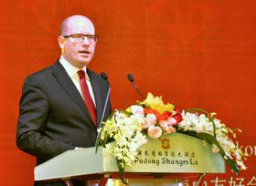 Bohuslav Sobotka en China, foto: ČTK