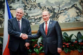 Милош Земан и Владимир Путин (Фото: ЧТК)
