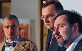 Karel Schwarzenberg, Petr Nečas, Radek John (left to right), photo: CTK