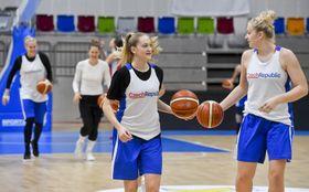 Czech women's basketball team during the training, photo: ČTK/Vít Šimánek