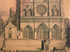 Le parvis de Notre-Dame en 1699, source: Antier, public domain