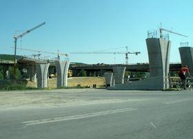 Z výstavby okruhu, ilustrační foto