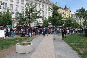 Merkádo, la plaza Jiřího z Poděbrad, foto: Kristýna Maková