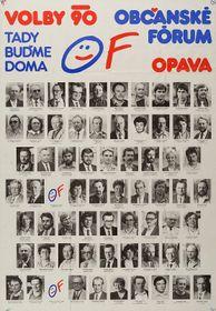 El póster del Foro Cívico, 1990