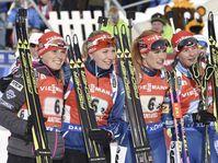 Eva Puskarčíková, Lucie Charvátová, Gabriela Soukalová, Veronika Vítková, photo: CTK