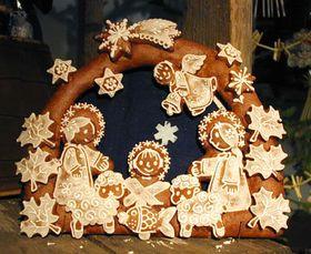 El pesebre de pan de jengibre y decorado con azúcar, foto: archivo de Radio Praga