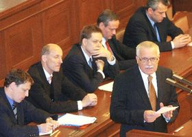 The President Vaclav Klaus in the Parliament, photo: CTK