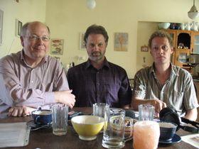 David Holeton, Thomas Fudge, Peter Moree (left to right), photo: author