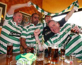 Los hinchas del Celtic, foto: CTK