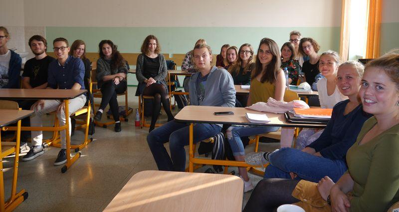 Les élèves du Lycée Jan Neruda, photo: Magdalena Hrozínková