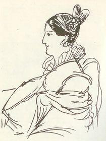 Долли Фикельмон. Рисунок А. С. Пушкина на листке Арзрумской тетради, 1829, фото: открытый источник