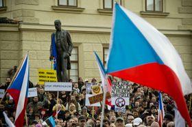 Демонстрация против мигрантов и ЕС, Фото: ЧТК