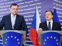 Petr Nečas y José Manuel Barroso, foto: ČTK