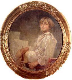 Le portrait de Jiří par son pére Alfons Mucha, 1925