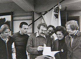 Pavel Kohout(au milieu) et Václav Havel (à droite), photo: Fenomén Kohout / ČT