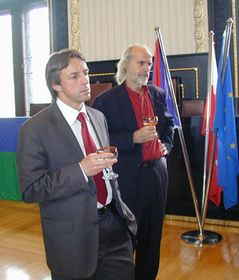 Pavel Bem (on the left)